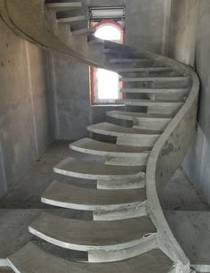 Concrete stairs interior staircases Ideas for 2019 Home Stairs Design, Interior Staircase, Stairs Architecture, Railing Design, Stair Design, Exterior Stairs, Bungalow House Design, House Front Design, Modern House Design