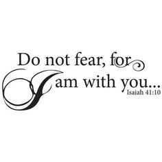 Do Not Fear... Vinyl Wall Decor with Scripture - Wall Decal Sticker Art Mural Christian Home Décor Quote His Hands Laser