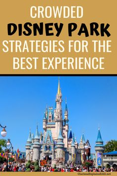 Crowded Disney Park Strategies for the Best Experience Disney is getting good at packing in the guests year round. If you get caught off guard, here's how to get the most of a crowded Disney park Disney World Tickets, Disney World Parks, Walt Disney World Vacations, Disney Vacation Planning, Disney World Planning, Vacation Ideas, Trip Planning, Disney Day, Disney Cruise