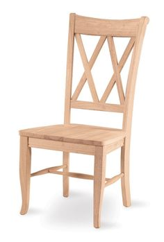 Amazon.com - International Concepts C-20P Pair of Double X Back Chairs, Unfinished - Dining Chairs $156