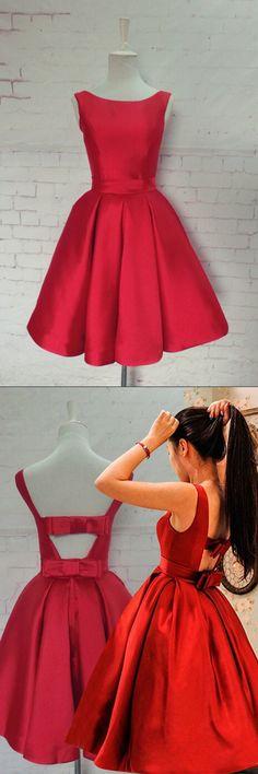 homecoming dress,short prom dress,simple homecoming dress,junior homecoming dress,red homecoming dress,cute prom dress