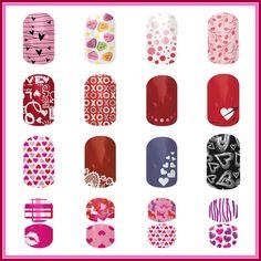 Jamberry Nails Valentine Nail Wraps www.bethroan.jamberrynails.net