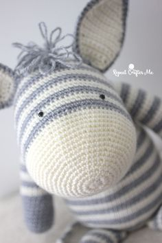 Adorable Crochet zebra + pattern and video