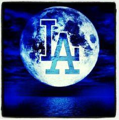 Dodger Moon Dodgers Nation, Let's Go Dodgers, Dodgers Girl, Dodgers Baseball, Los Angeles Dodgers Logo, I Love La, Dodger Blue, Go Blue, Blue Bloods
