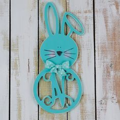 Bent Ear Bunny Monogram