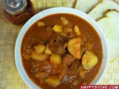 Goulash is a very popular Hungarian recipe for Paprika Flavored Stewed Beef with potatoes.