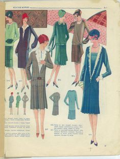 la coupe parfaite: The final installment of images from the 1928 Russian magazine Roaring 20s Fashion, Fashion 1920s, Vintage Fashion, 1920s Outfits, Vintage Outfits, Fashion Images, Fashion Pictures, 1920s Looks, Vintage Ball Gowns