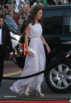 Catherine, Duchess of Cambridge arrives to the BAFTA Brits to watch event at the Belasco Theatre in Los Angeles, California, July 9, 2011.