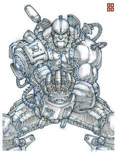Trap Jaw 001 by *Shun-008 on deviantART http://shun-008.deviantart.com/art/Trap-Jaw-001-86331484?q=gallery:shun-008/23413026qo=31 ★ || CHARACTER DESIGN REFERENCES | キャラクターデザイン • Find more artworks at https://www.facebook.com/CharacterDesignReferences http://www.pinterest.com/characterdesigh and learn how to draw: #concept #art #animation #anime #comics || ★
