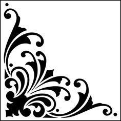 Corner No 2 stencil from The Stencil Library GENERAL range. Buy stencils online. Stencil code 343.