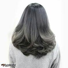 Ash Blonde Ombre Haircolor สีสวยทำเฉพาะปลายสไตล์ ombre