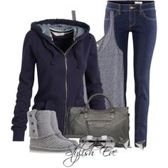 This is so casual and comfy looking! Love it!