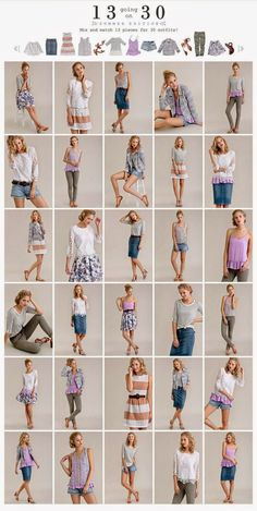 13 Going on this is awesome--not my color choices, but the concept. 13 pieces and you can make 30 outfits--pretty much one for every day of the month. This takes a capsule wardrobe to a whole new level. Model Poses Photography, Photography Basics, Travel Photography, Posing Guide, Fashion Capsule, Minimalist Wardrobe, Minimalist Packing, Fashion Poses, Foto Pose