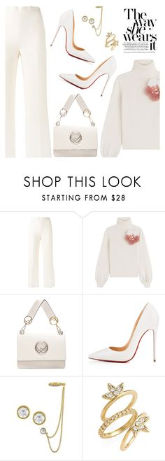 """""""Outfit of the Day"""" by dressedbyrose ❤ liked on Polyvore featuring Fendi, Christian Louboutin, Rachel Rachel Roy, Luv Aj, ootd and polyvoreeditorial"""