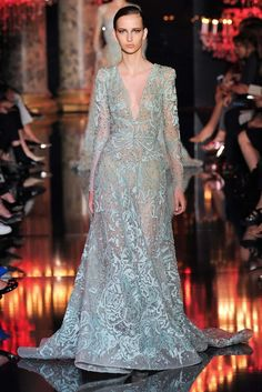 Elie Saab Fall 2014 Couture Fashion Show - Waleska Gorczevski (OUI)