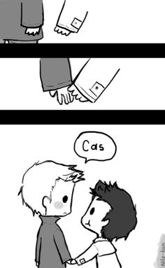 Day 1: Holding hands (Destiel version) by Nile-kun.deviantart.com on @deviantART