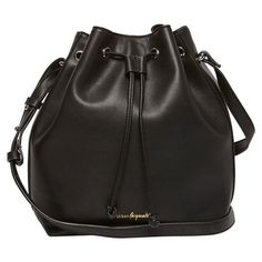 Women's Urban Originals Take Me Home Vegan Leather Bag (€76) ❤ liked on Polyvore featuring bags, black, faux leather bucket bag, vegan leather bags, urban originals, fake leather bag and vegan bags