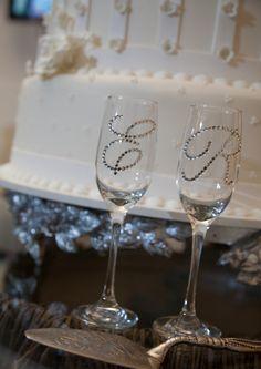 Taças com strass - DIY with glass bottles - Faça você mesmo - Reciclagem de garrafas e potes de vidro!