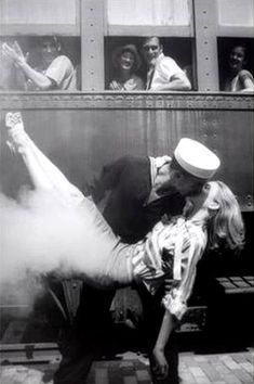Famous kissing couple pic....that looks like a really good kiss.