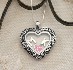 Initial Heart Locket, Two Initial Heart Necklace, Two Hearts Necklace, Best Friends Locket Necklace, Best Friends Gifts, Couples Locket