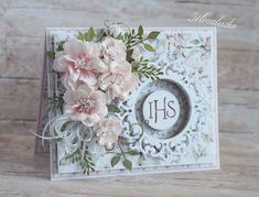 Best Ideas For Wedding Card Handmade Religious Wedding Cards Handmade, Beautiful Handmade Cards, Mixed Media Cards, Shabby Chic Cards, Mothers Day Cards, Creative Cards, Flower Cards, Cute Cards, Handmade Decorations