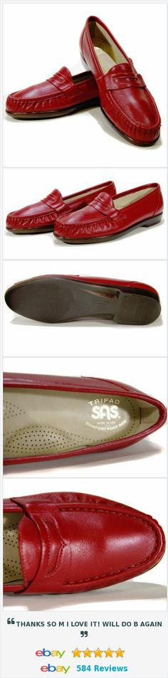 SAS Women's Loafers Size 9 N Flat Shoes Red Leather Tripad Comfort Foot Bed USA http://www.ebay.com/itm/SAS-Womens-Loafers-Size-9-N-Flat-Shoes-Red-Leather-Tripad-Comfort-Foot-Bed-USA-/252518071675?ssPageName=STRK:MESE:IT