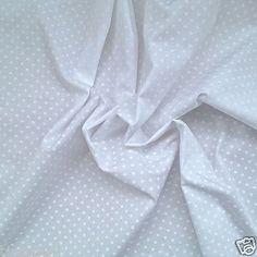 No.21: White mini polka dots on white cotton.