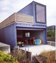 """Shipping Container World on Instagram: """"Container Home . ✨ FOLLOW US FOR MORE @shippingcontainerworld . . #container #shippingcontainerproject #shippingcontainerrestaurant…"""" Shipping Container Buildings, Shipping Container Home Designs, Container House Design, Shipping Containers, Cargo Container Homes, Building A Container Home, Container Architecture, Sustainable Architecture, Residential Architecture"""