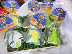 Toy Story birthday party cookies! See more party planning ideas at CatchMyParty.com!