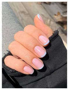 Frensh Nails, Chic Nails, Classy Nails, Dope Nails, Stylish Nails, Swag Nails, Art Nails, Nail Art French, Colored French Nails