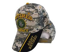 18917f55a7b Ant Enterprises US Army Retired Digital Camo Camouflage Shadow Black  Embroidered Cap Hat