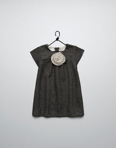 ponte di roma dress with a wool flower - Dresses - Baby girl (3-36 months) - Kids - ZARA United States