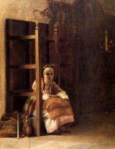 Théodore Jacques Ralli or Theodorus Rallis was a Greek painter, A4 Poster, Poster Prints, Greek Paintings, Oil Paintings, Jean Leon, Greek Art, Sacred Art, Vintage Artwork, Old Master