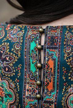 Купить Платье-туника из ПП платка Волшебница - Павлопосадский платок, туника, русский стиль