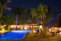 Home - Sefapane Lodge & Safaris Swim Up Bar, Thatched Roof, Perfect Place, Patio, Night, Places, Outdoor Decor, Home, Yard