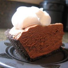 Rich Chocolate Truffle Pie - Allrecipes.com. Super easy. Follow the directions as stated. I like Ghiridelli