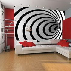 66 Ideas Photo Wallpaper Living Room Murals For 2019 Photo Wallpaper, Wall Wallpaper, Geometric Wallpaper, Pattern Wallpaper, 3d Wall Painting, Living Room Murals, 3d Wall Murals, Modern Wall Decor, 3d Wall Decor