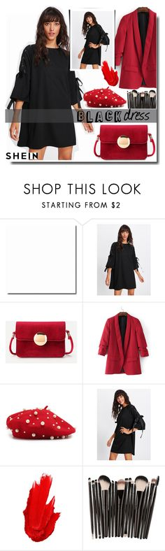 """Black dress /SHEIN"" by fashiondiary5 ❤ liked on Polyvore featuring Maybelline and shein"