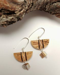 Wine Cork Earrings, Shell Beaded Recycled Wine Cork Earrings, One of a Kind Cork Jewelry, Unique Cork Gift Idea, Gift for Friends by JujusNature on Etsy Wine Cork Jewelry, Recycled Wine Corks, Cork Fabric, Wine Cork Crafts, Bijoux Diy, Wooden Beads, Gifts For Friends, Diy Gifts, Jewelery
