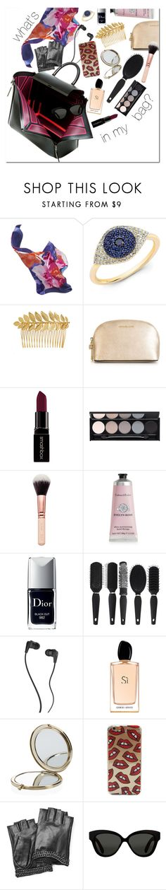 """WHAT'S in my bag?"" by anny-dd ❤ liked on Polyvore featuring Joules, Ellen Hunter, MICHAEL Michael Kors, Smashbox, Witchery, Therapy, Christian Dior, Skullcandy, Giorgio Armani and Henri Bendel"
