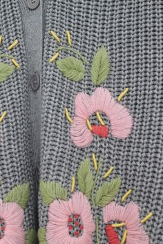 Embroidery Detail Cardigan Grey http://www.thewhitepepper.com/collections/knitwear/products/embroidery-detail-cardigan-grey