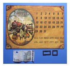 "Targa vintage ""Calendario perpetuo magnetico Continent Express to the Orient"" | eBay"