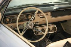 "Mustangs Forever at the Petersen Museum 1965 Mustang Convertible interior—the ""Reagan Mustang—before it got detailed"