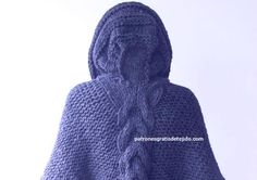 Cómo Tejer Poncho con Capucha a Dos Agujas | Crochet y Dos Agujas Patrones Chrochet, Knit Crochet, Crochet Poncho Patterns, Cardigans For Women, Crochet Projects, Winter Hats, Knitting, Sweaters, Fashion