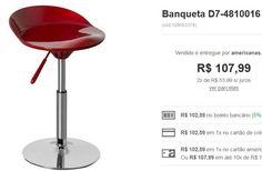Banqueta em ABS at.home - 3 cores disponíveis << R$ 10259 >>