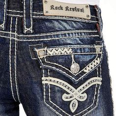 Rock Revival Elaina Boot Stretch Jean - Women's Jeans in Elaina Bling Jeans, Buckle Jeans, Cute Jeans, Women's Jeans, Dark Jeans, Site Nike, Rock Revival Jeans, Best Jeans, Miss Me Jeans