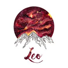 Leo Zodiac Watercolor Print by PickledCherryblossom on Etsy