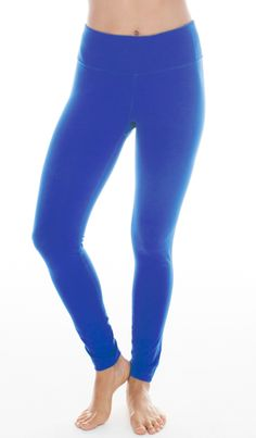 Power Flex Yoga Pants - Lightning Blue