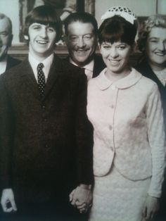 Ringo Starr and Maureen Cox on their wedding day on the 11th of February 1965, at Caxton Hall, Westminster.