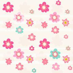 Free digital floral scrapbooking paper in pink – ausdruckbares Geschenkpapier - freebie